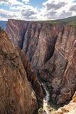 Черный каньон Gunnison стоковое изображение