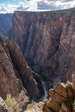 Черный каньон Gunnison стоковая фотография