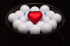 Черный керамический шар вполне шаров для игры в гольф стоковые фотографии rf