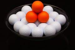 Черный керамический шар вполне шаров для игры в гольф стоковая фотография rf