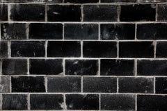 Черный кирпич Стоковая Фотография