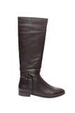 Черный кожаный ботинок с молнией Стоковые Изображения