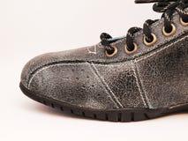 черный кожаный ботинок Стоковое Изображение