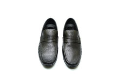 Черный кожаный ботинок Стоковая Фотография RF