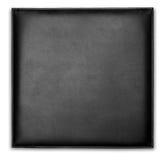 Черный кожаный бумажник случая стоковые изображения rf