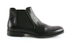 черный кожаный мыжской ботинок Стоковые Изображения