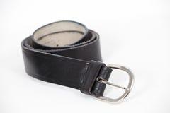 Черный кожаный пояс Стоковые Фото