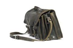 черный кожаный schoolbag 2 Стоковые Изображения RF