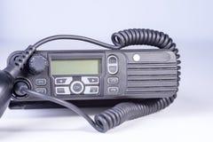 черный компактный портативный профессиональный комплект радио Стоковые Изображения