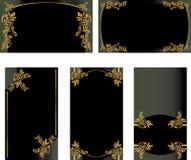 черный комплект золота визитной карточки 2 Стоковая Фотография