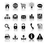 черный комплект иконы Стоковые Изображения