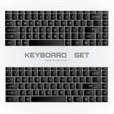 Черный КОМПЛЕКТ клавиатуры Стоковое Изображение