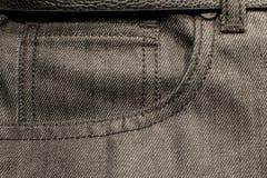 Черный конец джинсовой ткани вверх по карманн Стоковое фото RF