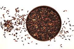 черный коричневый рис Стоковое Фото