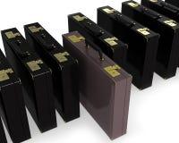 черный коричневый рядок случая Стоковое Изображение RF