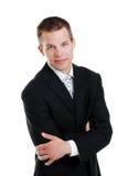 черный костюм бизнесмена Стоковые Изображения RF