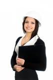 черный костюм девушки дела Стоковая Фотография RF