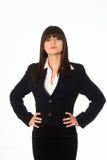 черный костюм девушки дела Стоковое Фото