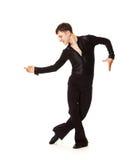 черный костюм элегантности танцора Стоковые Фото