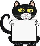 черный кот шаржа иллюстрация вектора