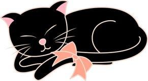 черный кот иллюстрация штока