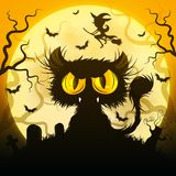 черный кот halloween Стоковое Изображение RF