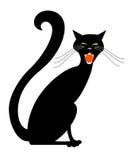 черный кот halloween Стоковые Изображения RF