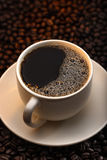 черный кофе Стоковое Изображение RF