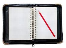 черный красный цвет карандаша блокнота Стоковая Фотография RF