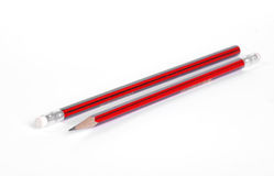 черный красный цвет карандаша Стоковое Изображение