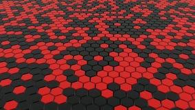черный красный цвет наговора решетки пола Стоковая Фотография RF