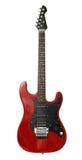 черный красный цвет электрической гитары стоковые фотографии rf
