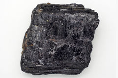 Черный кристалл турмалина Стоковое Изображение