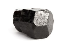 Черный кристалл турмалина Стоковое Изображение RF