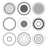 черный круг Стоковое фото RF