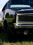 черный крупный план автомобиля глянцеватый Стоковое Изображение RF
