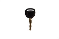 Черный ключ изолированный на белой предпосылке Стоковое Изображение