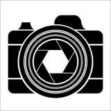 Черный логотип камеры Стоковое фото RF