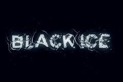 Черный льдед (serie текста) Стоковые Изображения RF