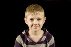 черный мальчик изолировал удивлено Стоковая Фотография RF