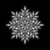 Черный мандалы tricolor и бело-серый doodle бесплатная иллюстрация