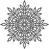 Черный мандалы tricolor и бело-серый doodle иллюстрация вектора
