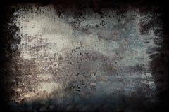 Черный металл grunge текстурировал предпосылку стены с царапинами стоковая фотография rf