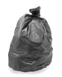 Черный мешок для мусора стоковое изображение