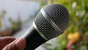 черный микрофон Стоковые Фото