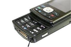 черный мобильный телефон Стоковое Фото