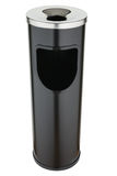 Черный мусорный бак металла с подносом золы Стоковое Изображение RF