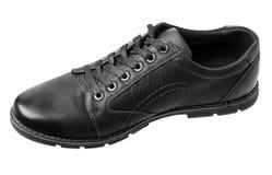 черный мыжской ботинок Стоковое фото RF