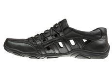 черный мыжской ботинок Стоковые Фотографии RF