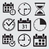 Черный набор значков контроля времени r бесплатная иллюстрация
